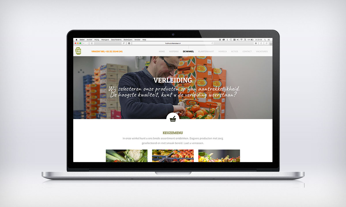 Parallax website Fruithuis