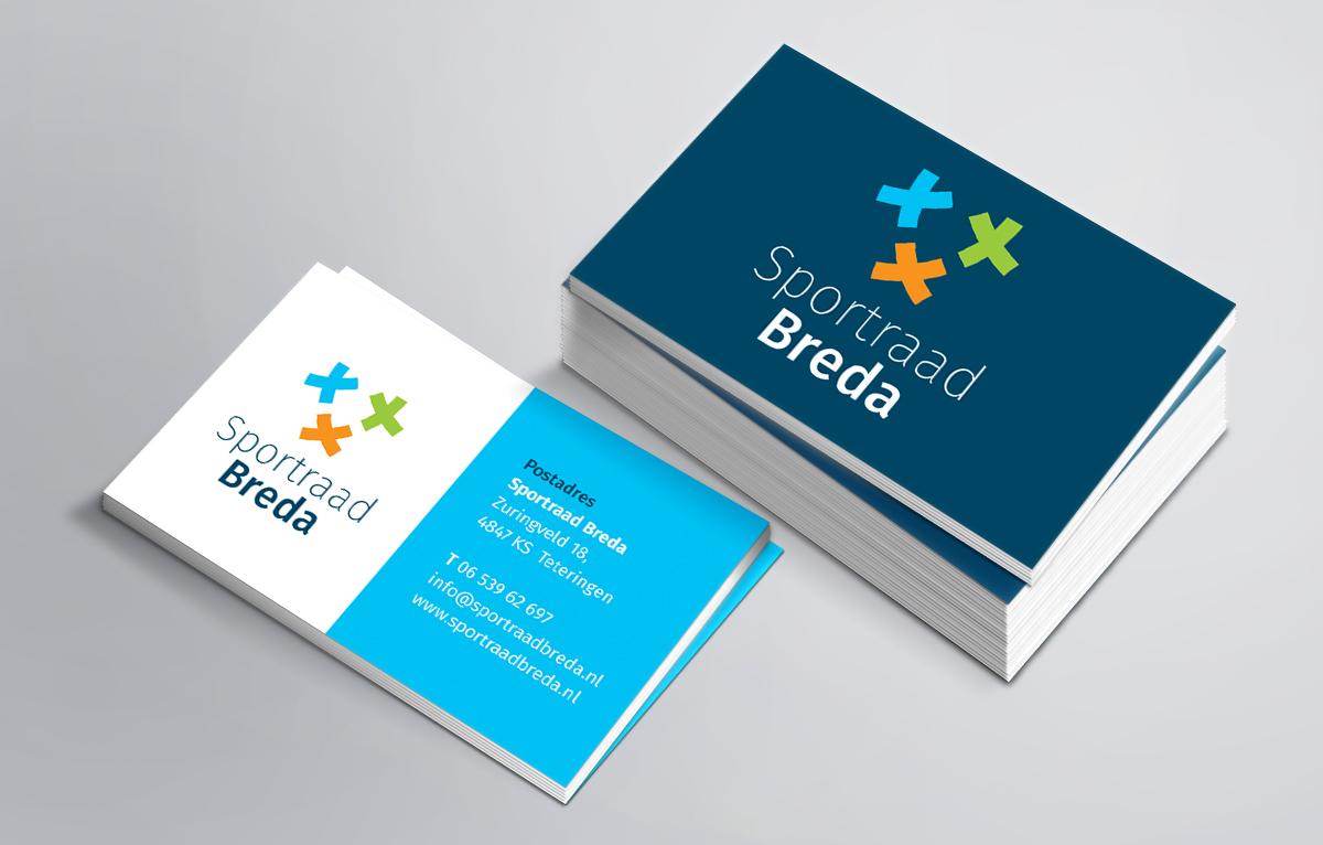 visitekaartjes Sportraad Breda