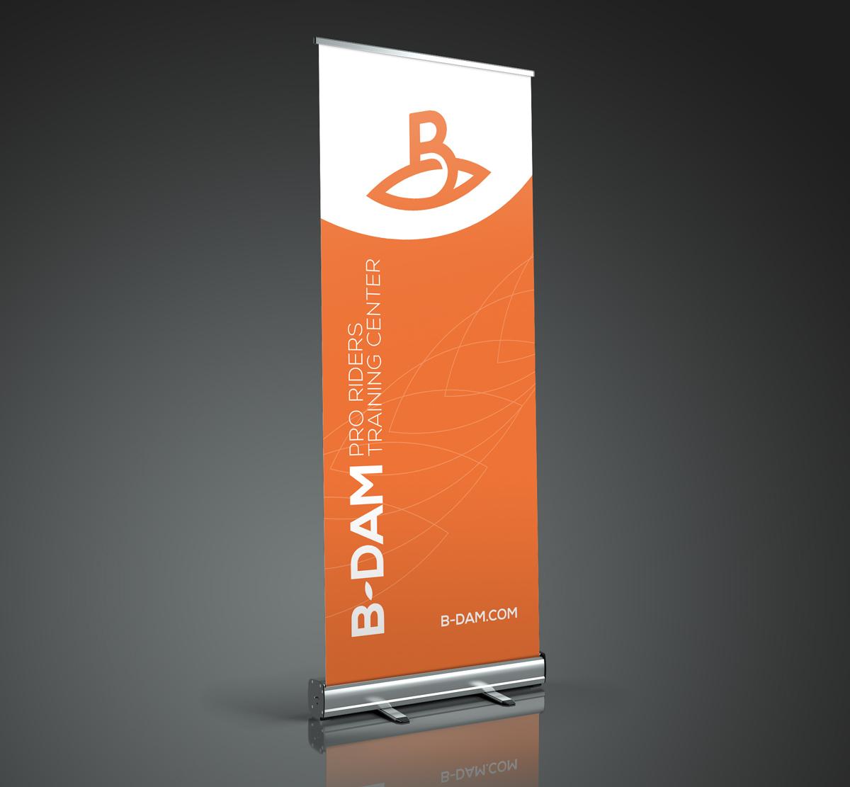 B-dam rollupbanner