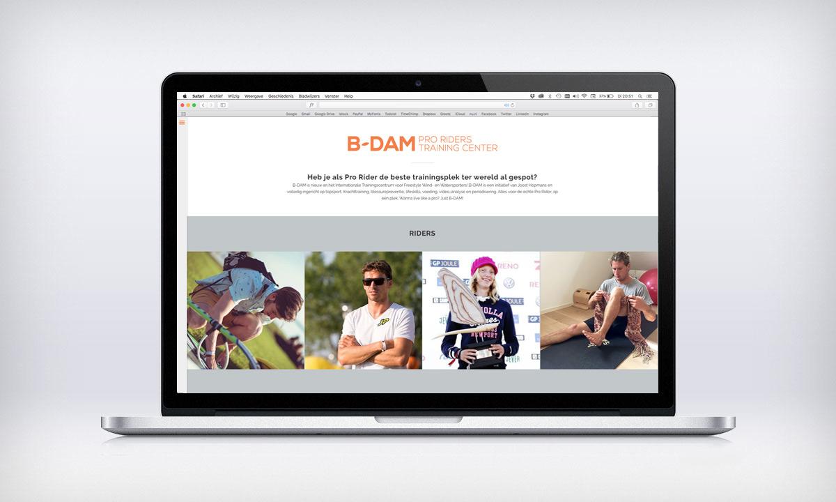 website B-dam homepage