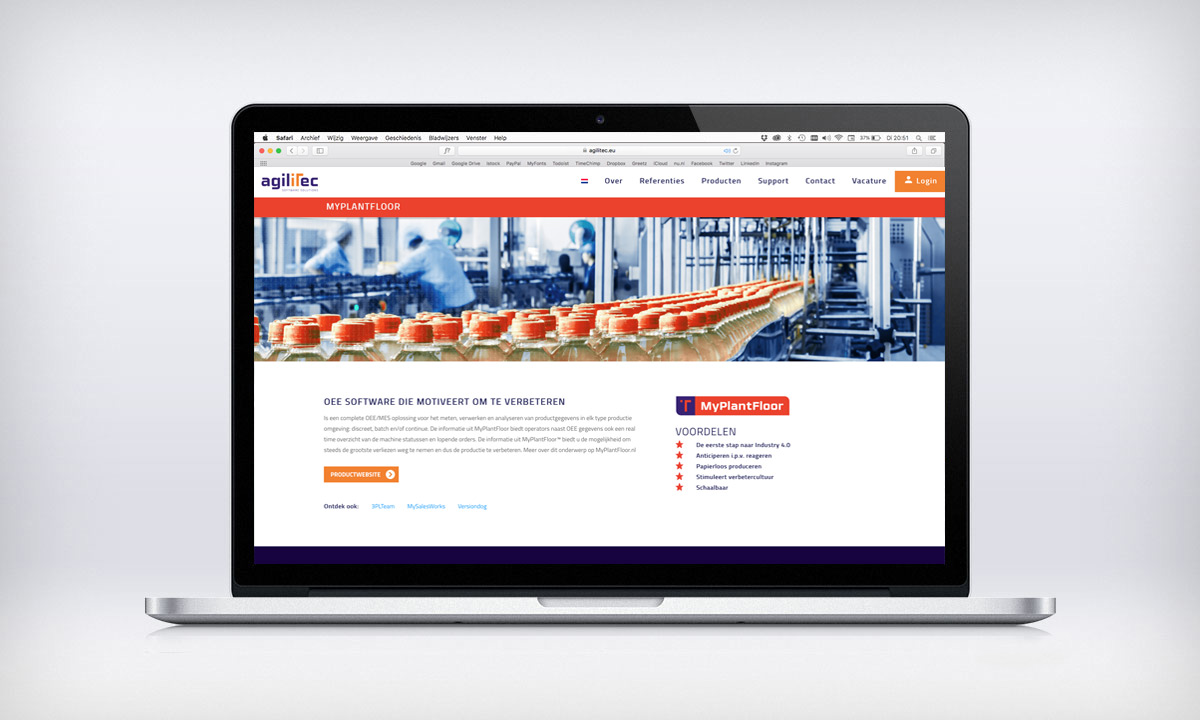 website agilitec producten