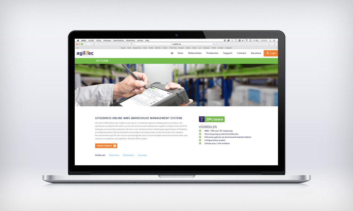 website agilitec productpagina