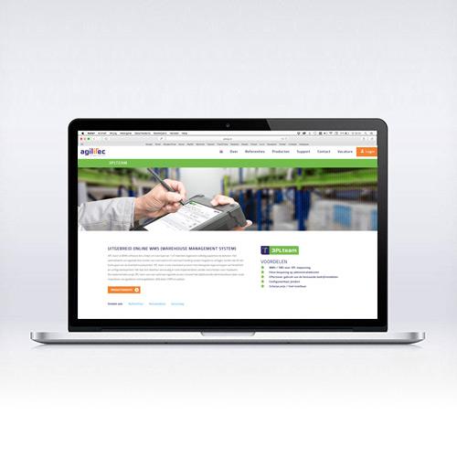 Grafisch ontwerp website van Agilitec